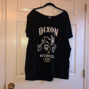 Walking dead Daryl Dixon 4x torrid black tee